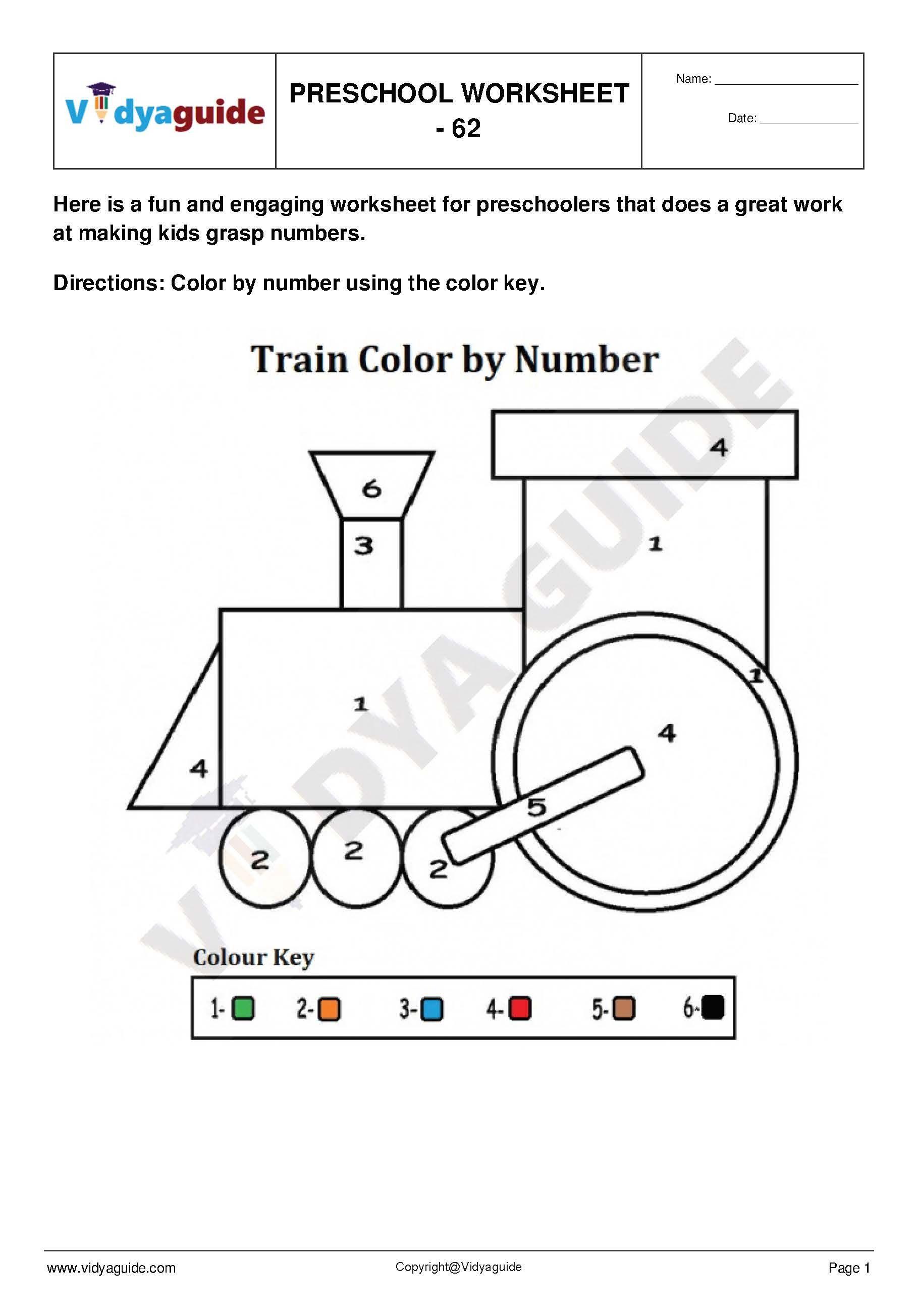 Preschool Worksheet   Set 12. Download 5 PDF printable ...