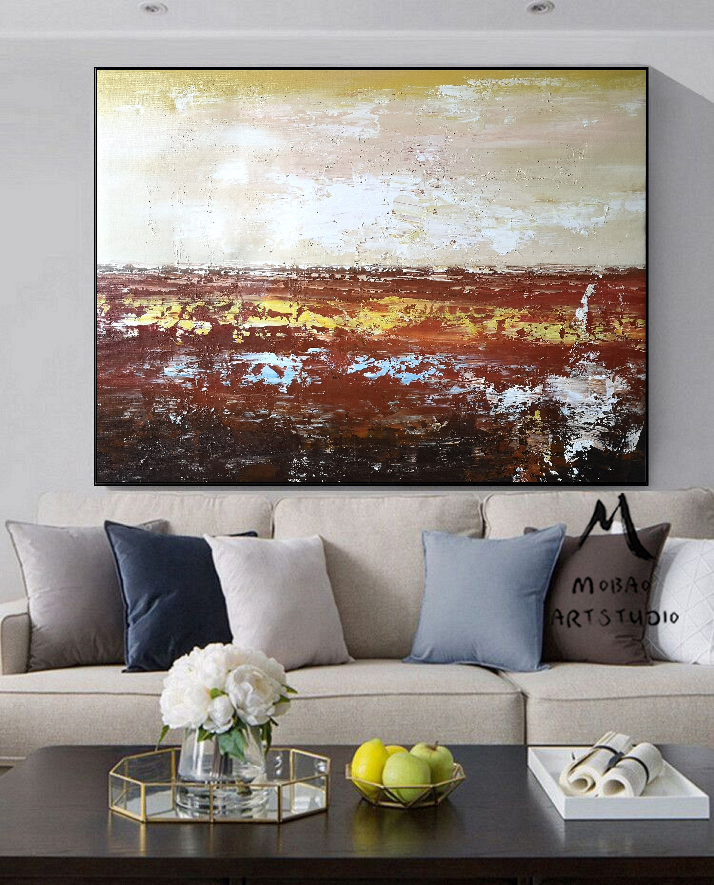 Large Abstract Painting Red Abstract Painting Sea Painting Etsy In 2020 Abstract Canvas Wall Art Abstract Painting Red Abstract Painting