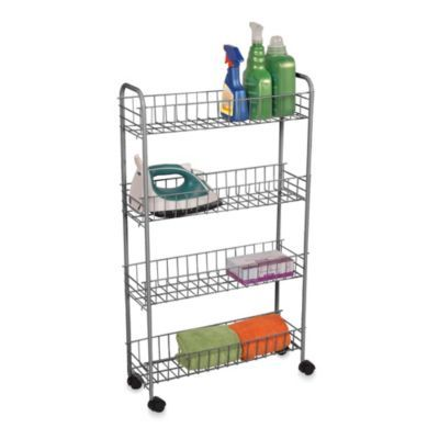 4 Tier Rolling Cart   BedBathandBeyond.com /// I Think This Would