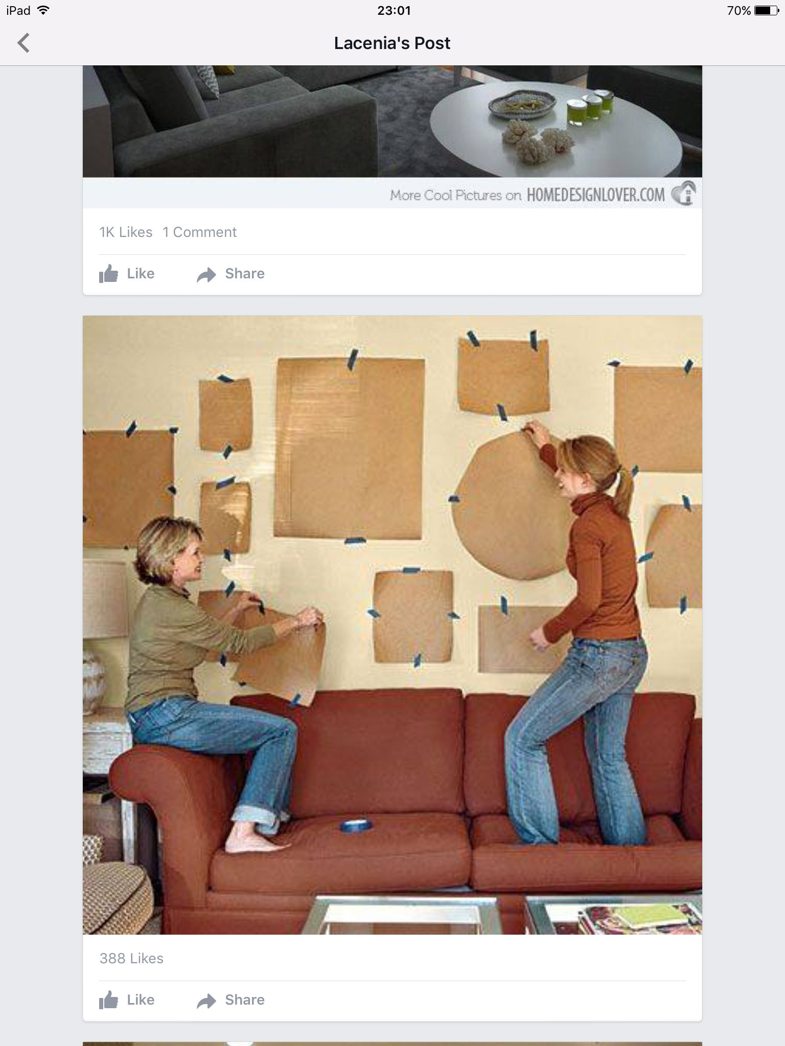 Test with paper before putting up frames | Home Decor Ideas ...