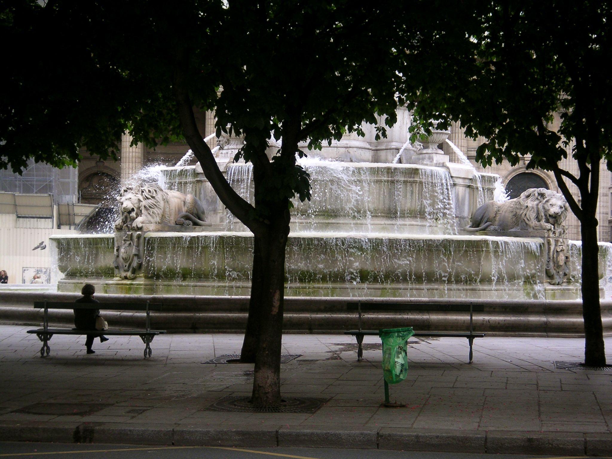 fountain across from Saint Sulpice church in #Paris
