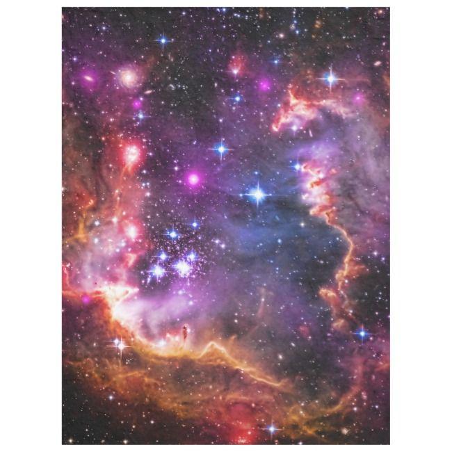 Outer Space Starry Wingtip, Small Magellanic Cloud Fleece Blanket | Zazzle.com