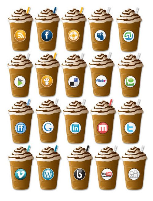 Download 9 Beautiful Coffee-Themed Social Media Icons