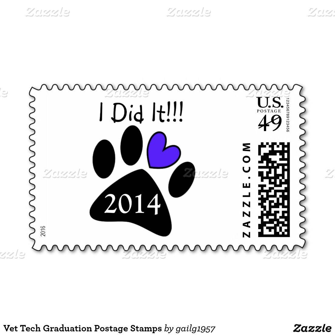 Vet tech graduation postage stamps invites pinterest vet tech graduation postage stamps biocorpaavc Gallery