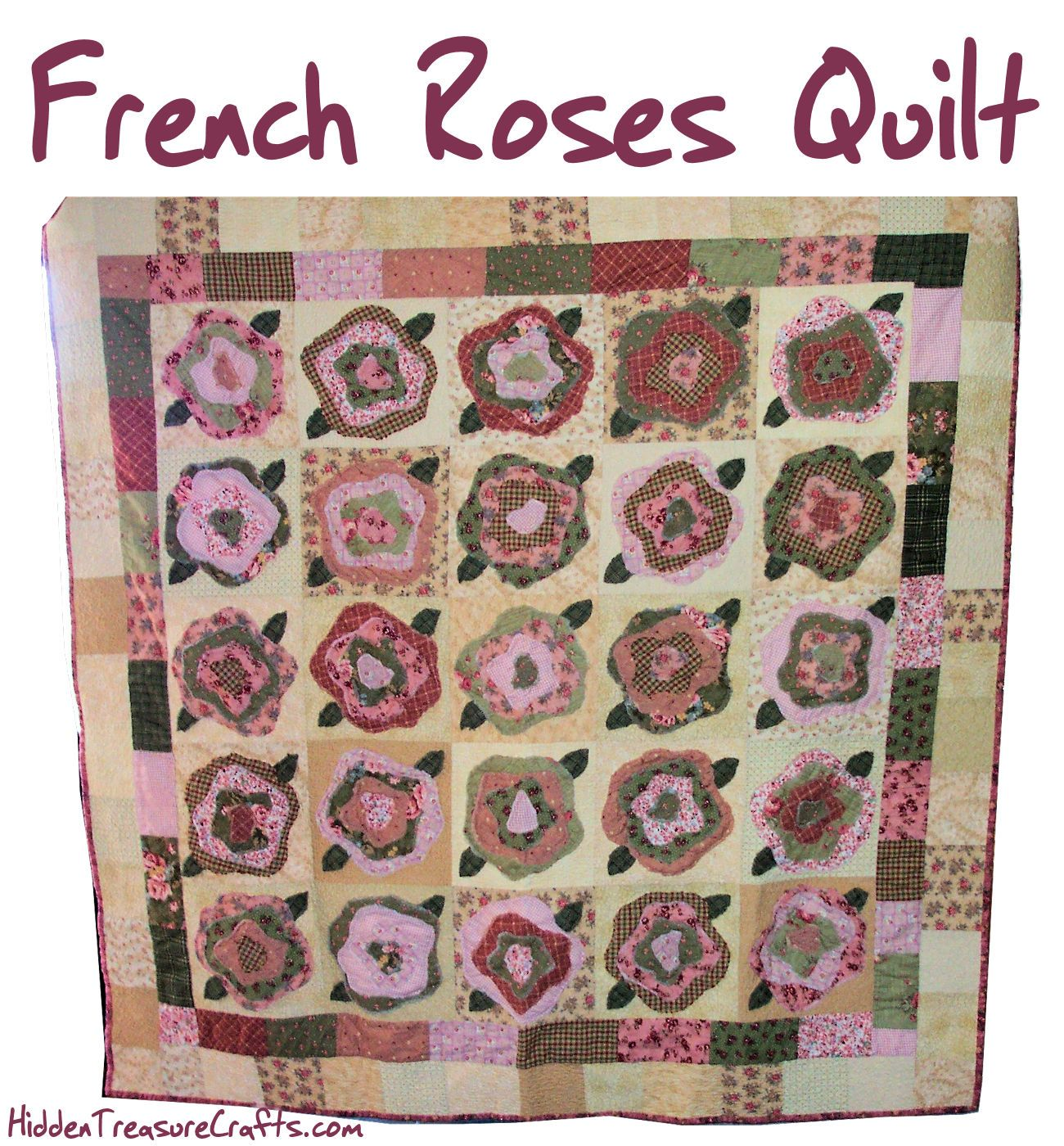 French Roses Quilt by Heather French | Pictorial Quilts: Botanical ... : pictorial quilt tutorial - Adamdwight.com