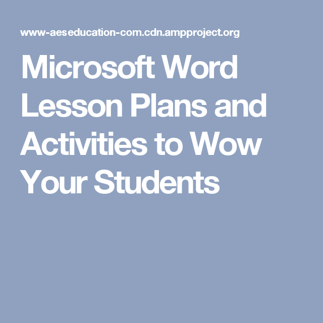 microsoft word lesson plans and activities to wow your students ms