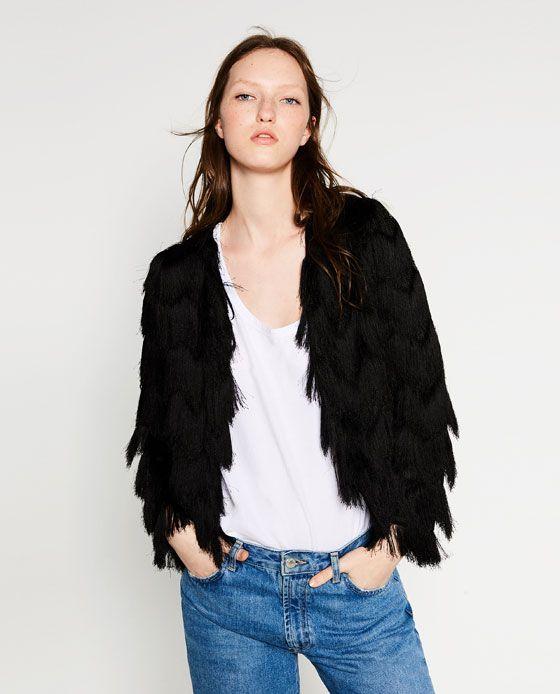 95d30c0f5 Imagen 2 de CHAQUETA FLECOS de Zara   Fashionist en 2019   Flecos ...