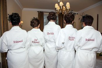 Personalised Dressing Gowns Wedding