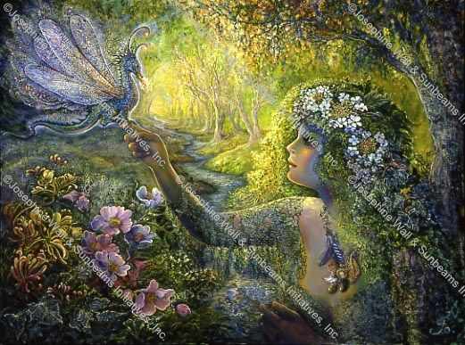 The Dryad And Dragonfly Josephine Wall Imagination Art Art