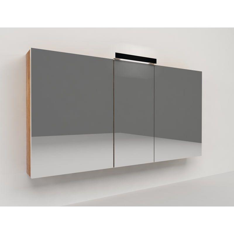 Specchio Contenitore Con Luce Key L 120 X P 15 X H 62 Cm Marrone
