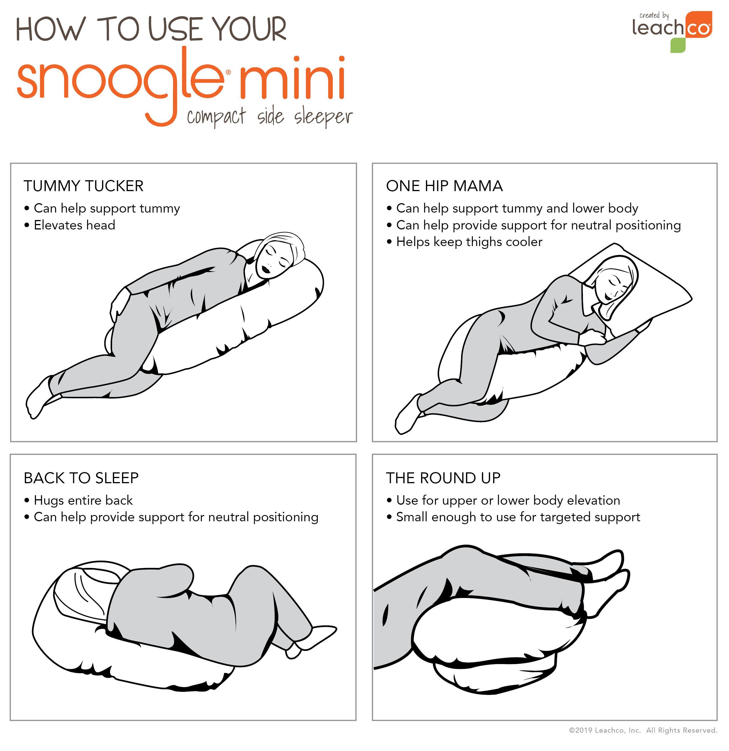 Snoogle Mini Body Pillow Snoogle Machine Wash Pillows