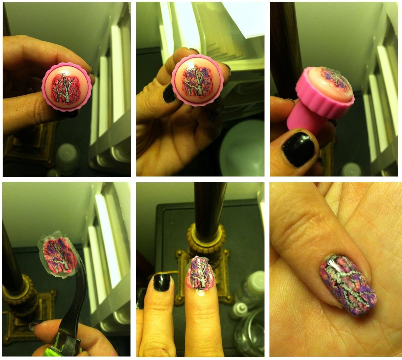 Diy Nail Art Stickers Made With Acrylic Paint Clear Topcoat And Glued In Place Sealed With Clear Topcoat Mudd Nail Art Stickers Nail Art Diy Diy Nails