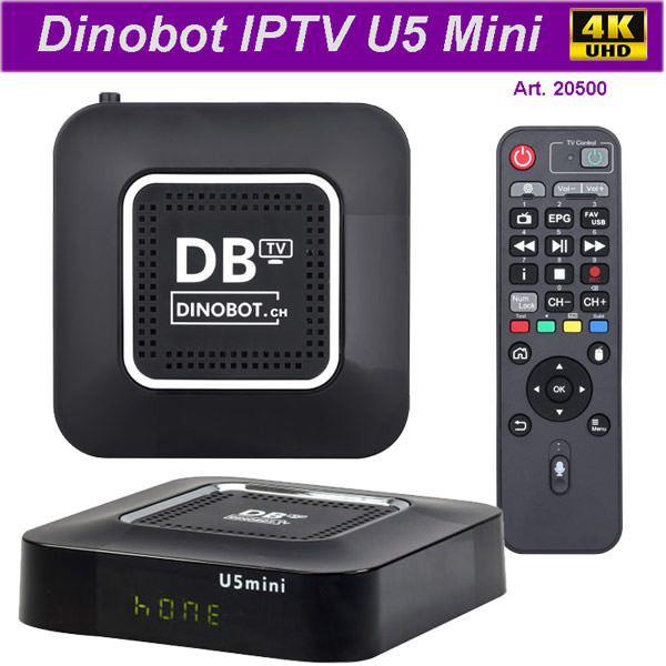 IPTV Dinobot U5 mini 4K 16GB Stream Box | IPTV Receiver | Android tv
