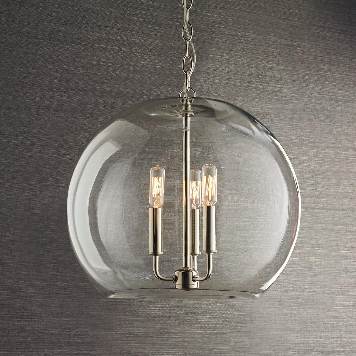 Clear Glass Sphere Chandelier Sphere Pendant Light Chandelier
