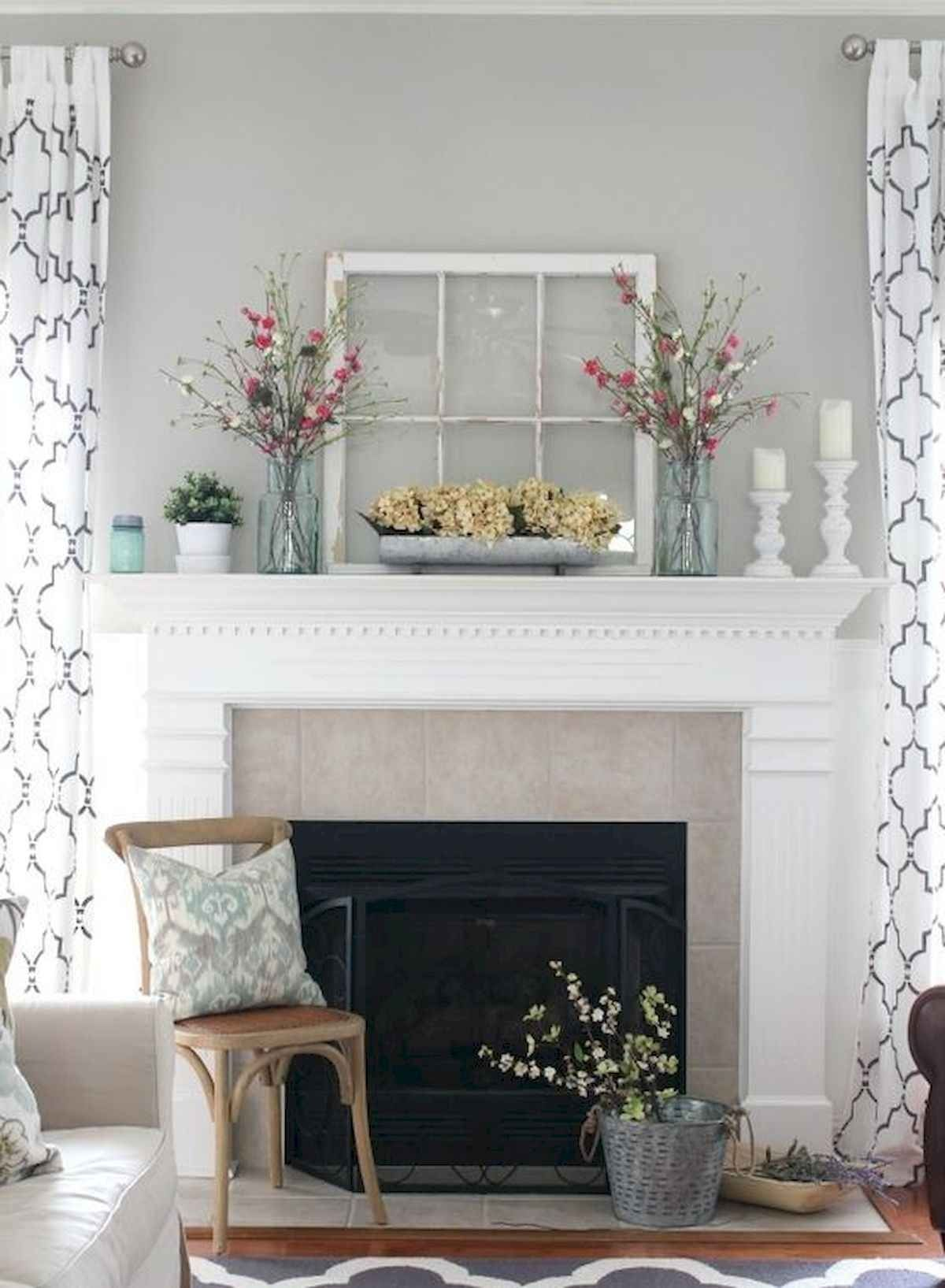 50 Beautiful Spring Mantle Decorating Ideas 23 In 2020 Farmh