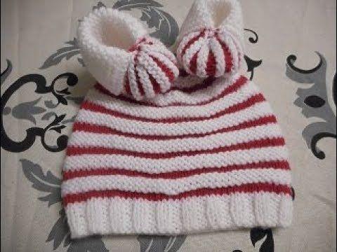 359e1a520b1 tuto tricot bonnet citrouille 2 couleurs - YouTube