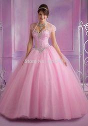 Online Shop Vestidos de Debutante 2014 New Sweet 16 Dress Baby Blue Pink Ball Gowns Quinceanera Dresses 2014 Vestido De 15 anos |Aliexpress Mobile