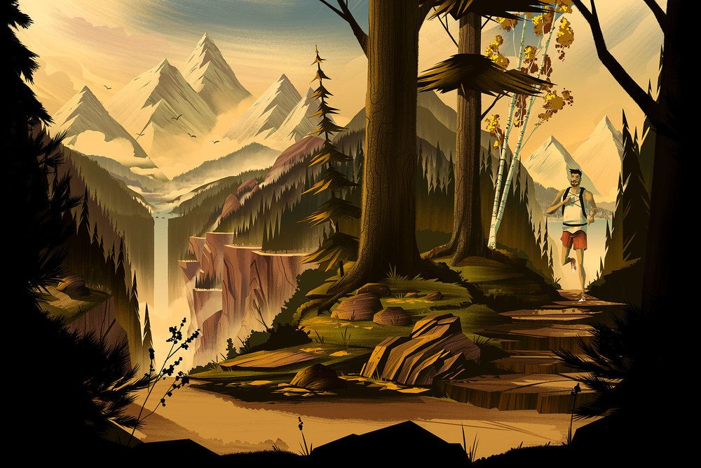 Brian Miller - Illustration for the Australian based outdoor shop, Every Mountain.