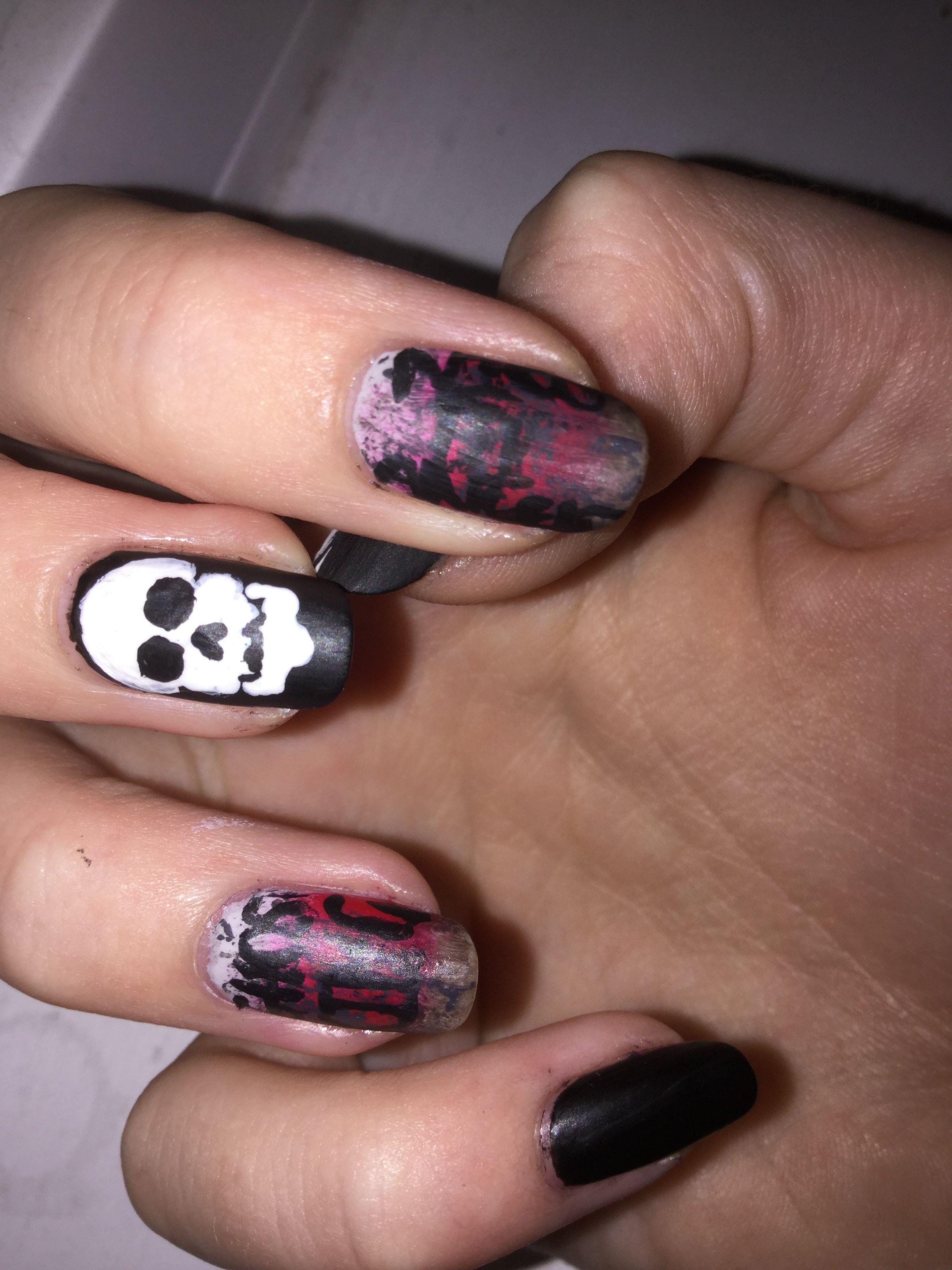 Week nine of my PJO/HOO nail art. This week\'s is everybody\'s ...