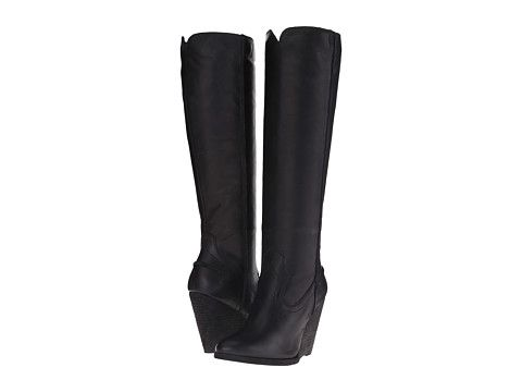 Frye Cece Seam Tall Black Washed Antique Pull Up - Zappos.com Free Shipping BOTH Ways