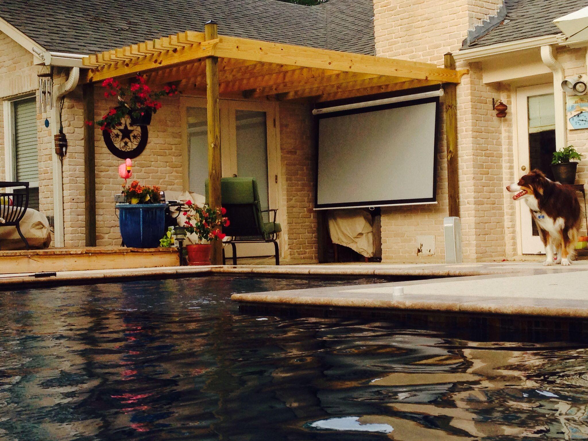 Outdoor projection screen outdoor projection screen