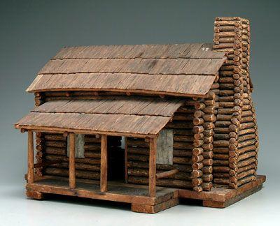 Brunk Auctions Lot Detail Little Log Cabin Doll House Log Cabin