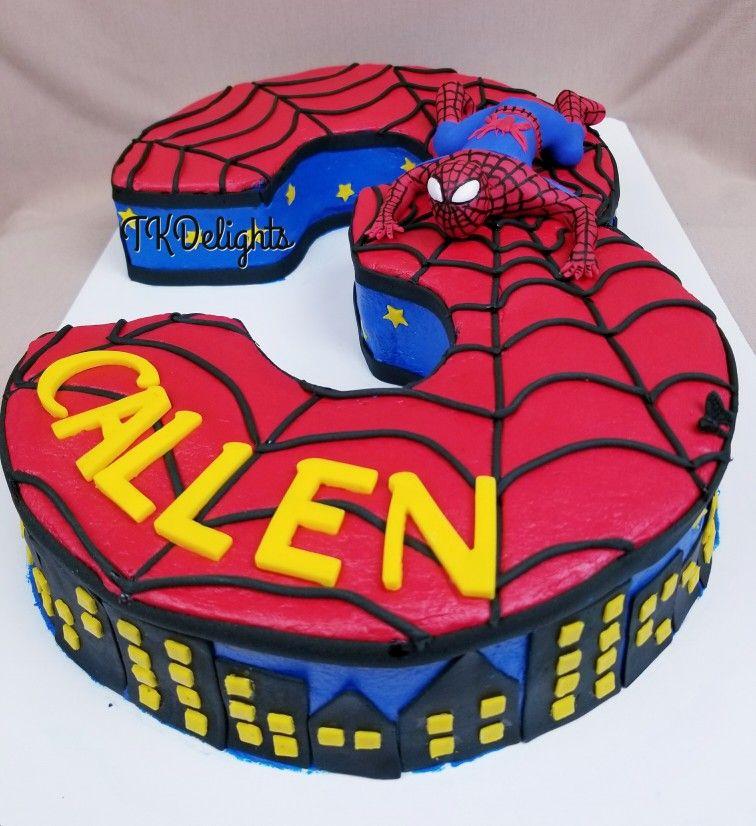 Spiderman 3rd Birthday Cake French Vanilla Cake With Canoli