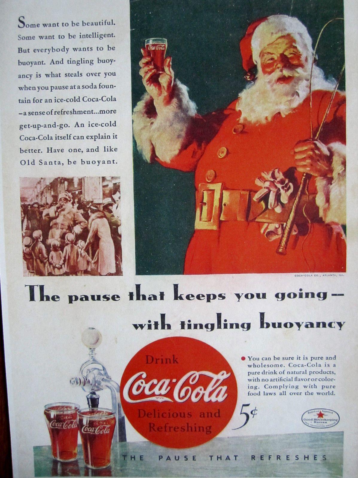 Coke Christmas Ads.Pin On Coke Santa Ads