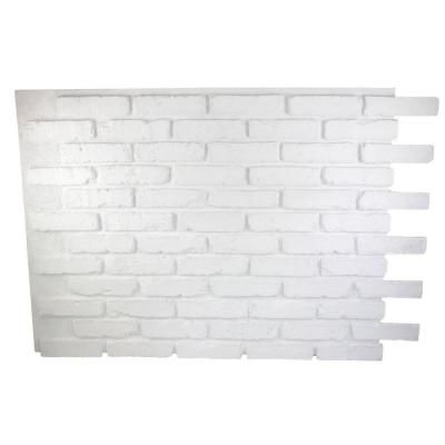Superior Building Supplies Faux Reclaimed Brick 32 In X 47 In X 3 4 In Panel Dove White Hd Rb3247 Dws The Home Depot Faux Brick Faux Brick Panels Faux Brick Walls