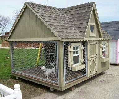 Beautiful Extra Large Dog House With Covered Kennel Cool Dog