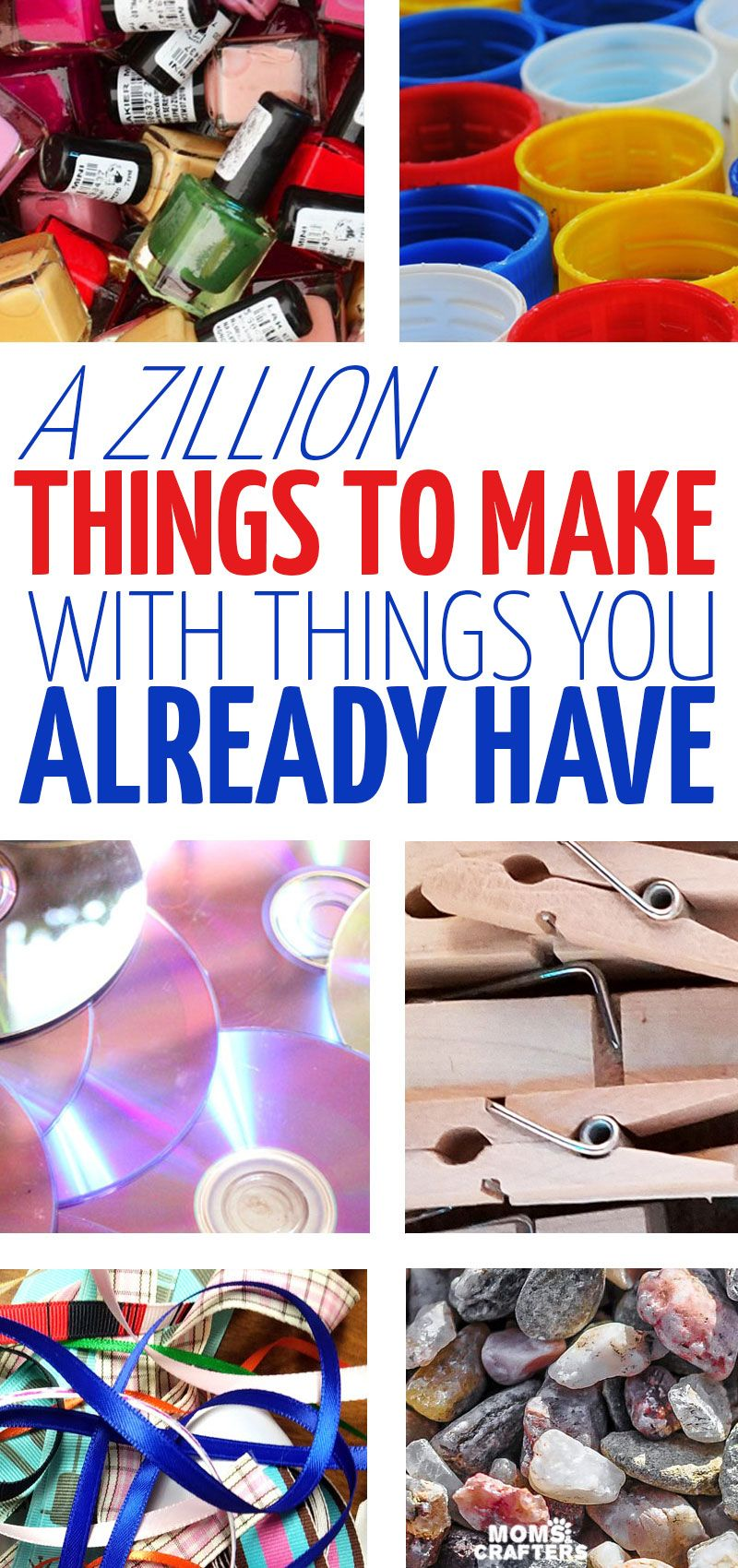 A Zillion things to make #recycledcrafts