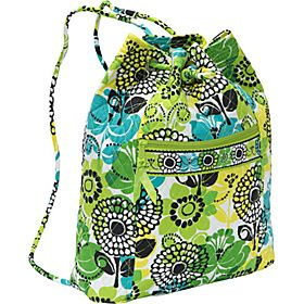 66101b53b6 Vera Bradley Backsack Lime s Up - Lime s Up - via eBags.com!