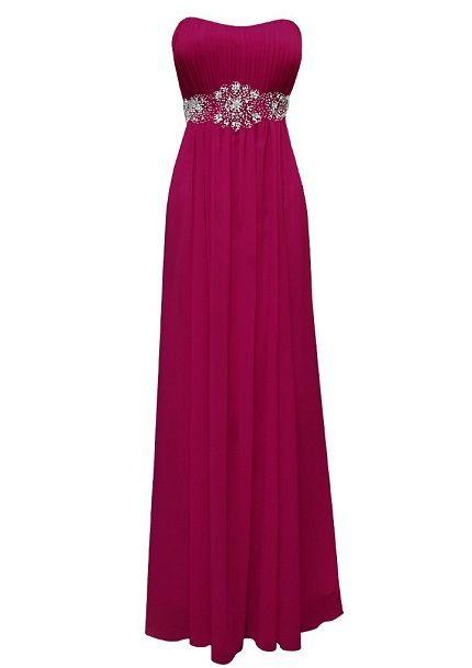 Cheap long magenta junior prom, senior prom graduation dresses under ...