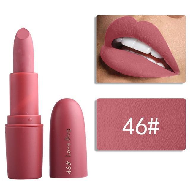 Miss Rose Lipstick Waterproof Vampire Brown Beauty Red Baby Lips Batom Matte Lipstick Sexy Makeup Beautiful And Charming Lipstick Beauty Essentials