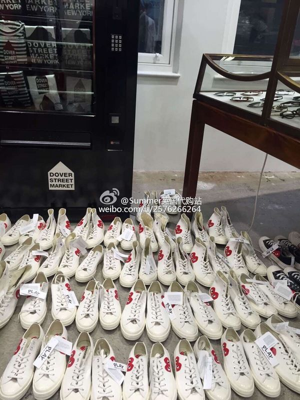 e8e8ad85e01f Kawakubo Ling CDG Play x Converse First String 1970s half heart 79  converse   shoes