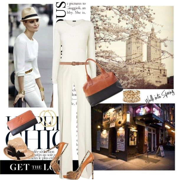 """""""NEW YORK CHIC."""" Would love to pull off the white look!"""