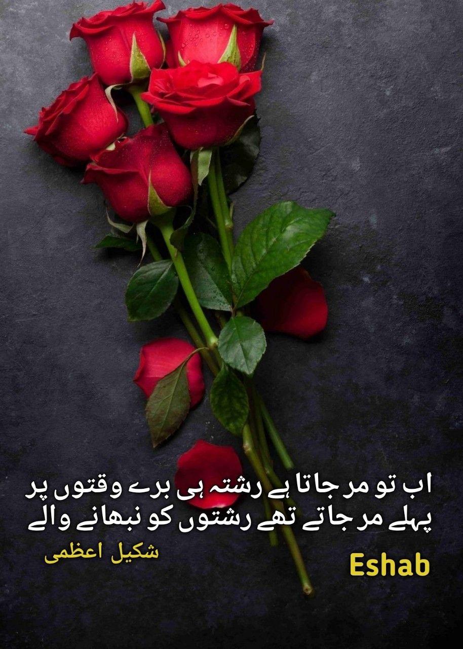 Pin By Eshab On جس کو ڈھونڈنے جائے مل یہ کہاں بساط دل Urdu Poetry Rose Day Shayari Urdu Poetry Romantic