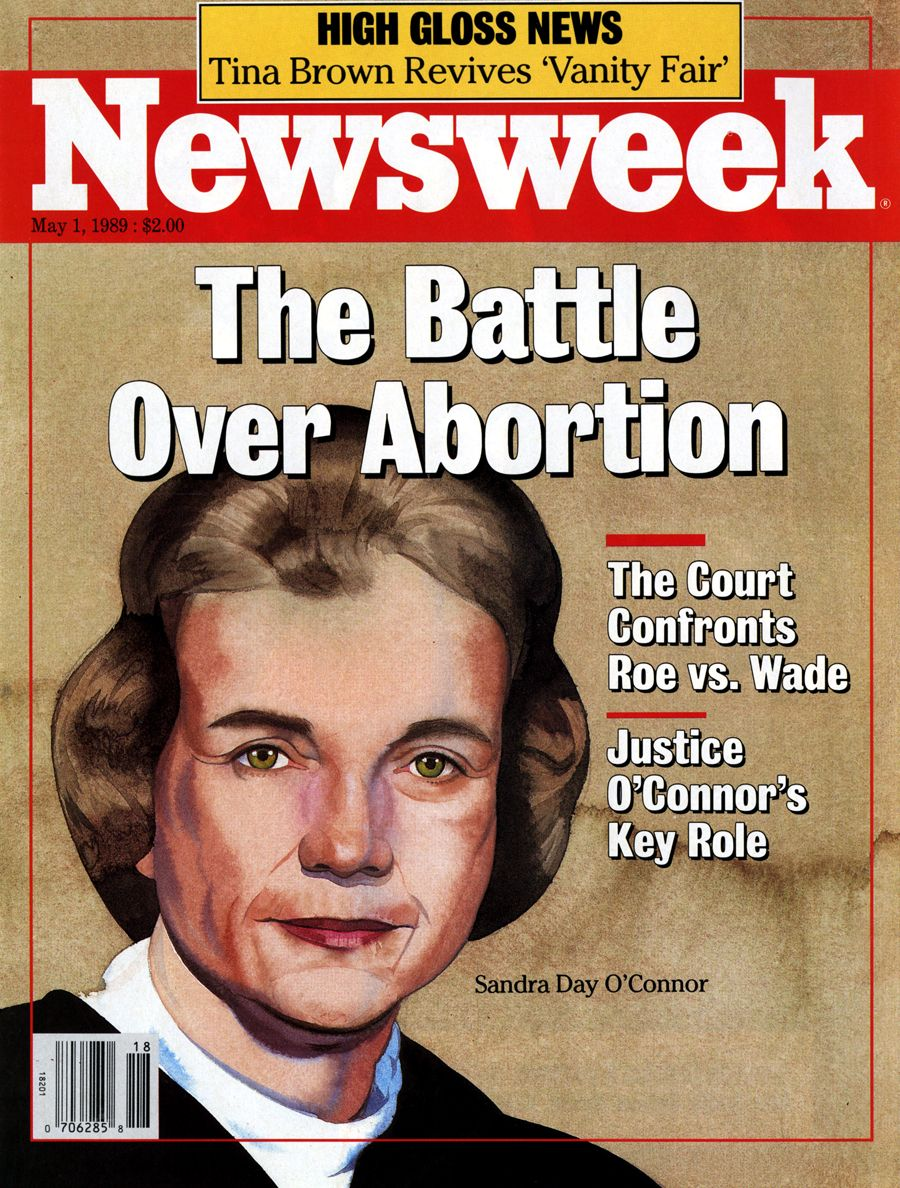 Sandra Day O Connor Quotes Newsweek Magazine Cover The Battle Over Abortion Sandra Day O