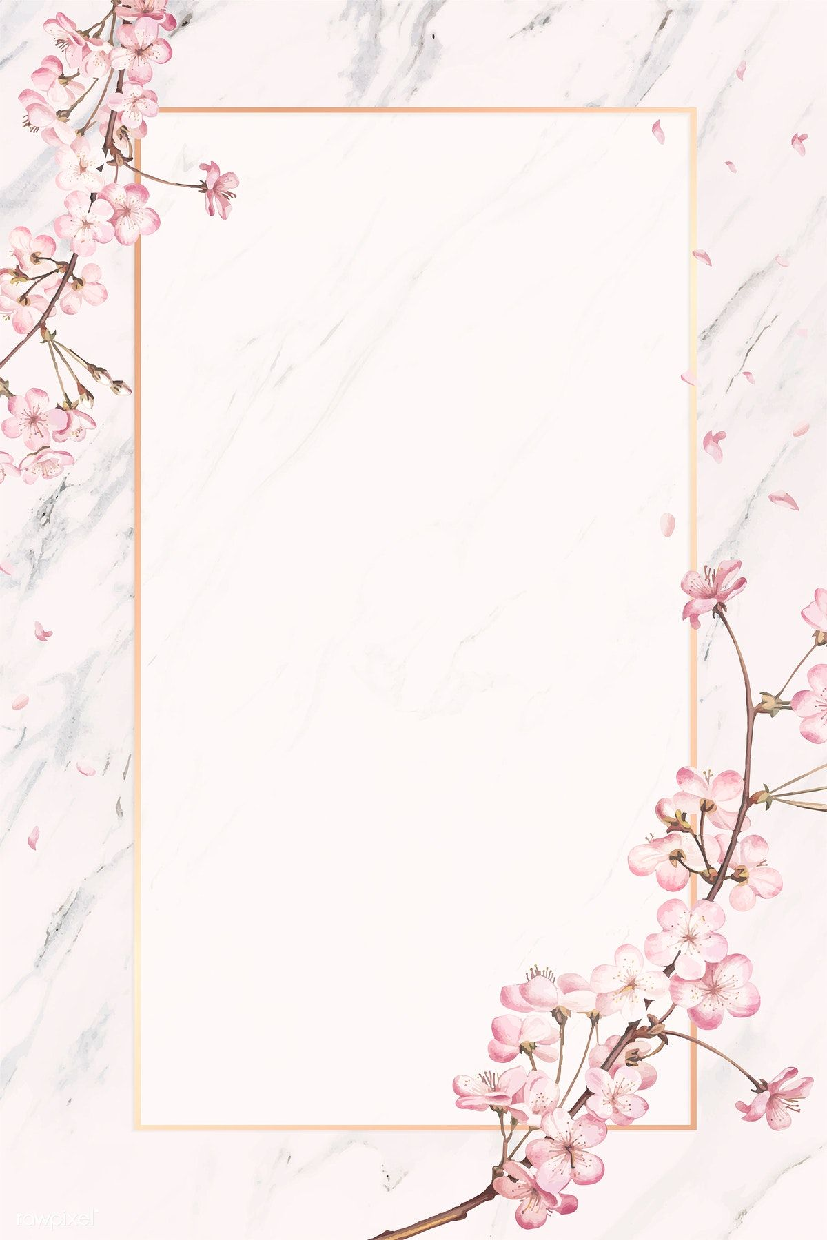 Download premium illustration of Pink floral frame card
