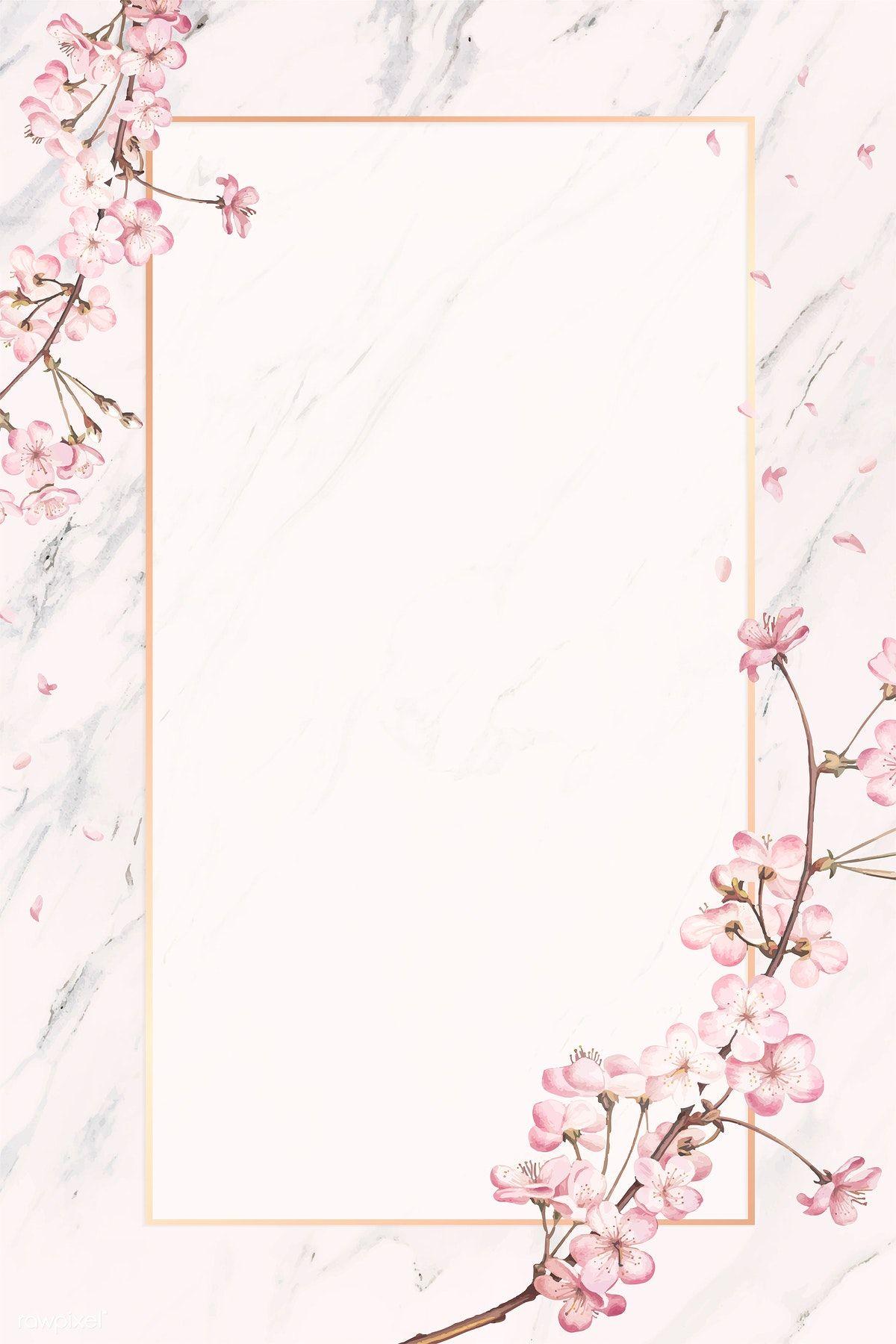 Download premium vector of Pink floral frame card vector