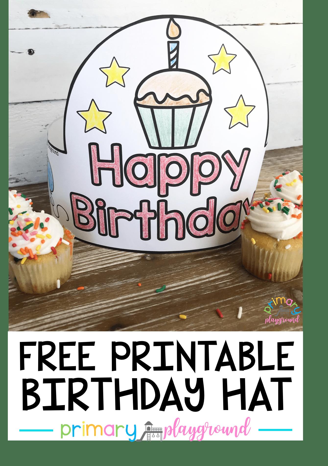 Free Printable Birthday Hat