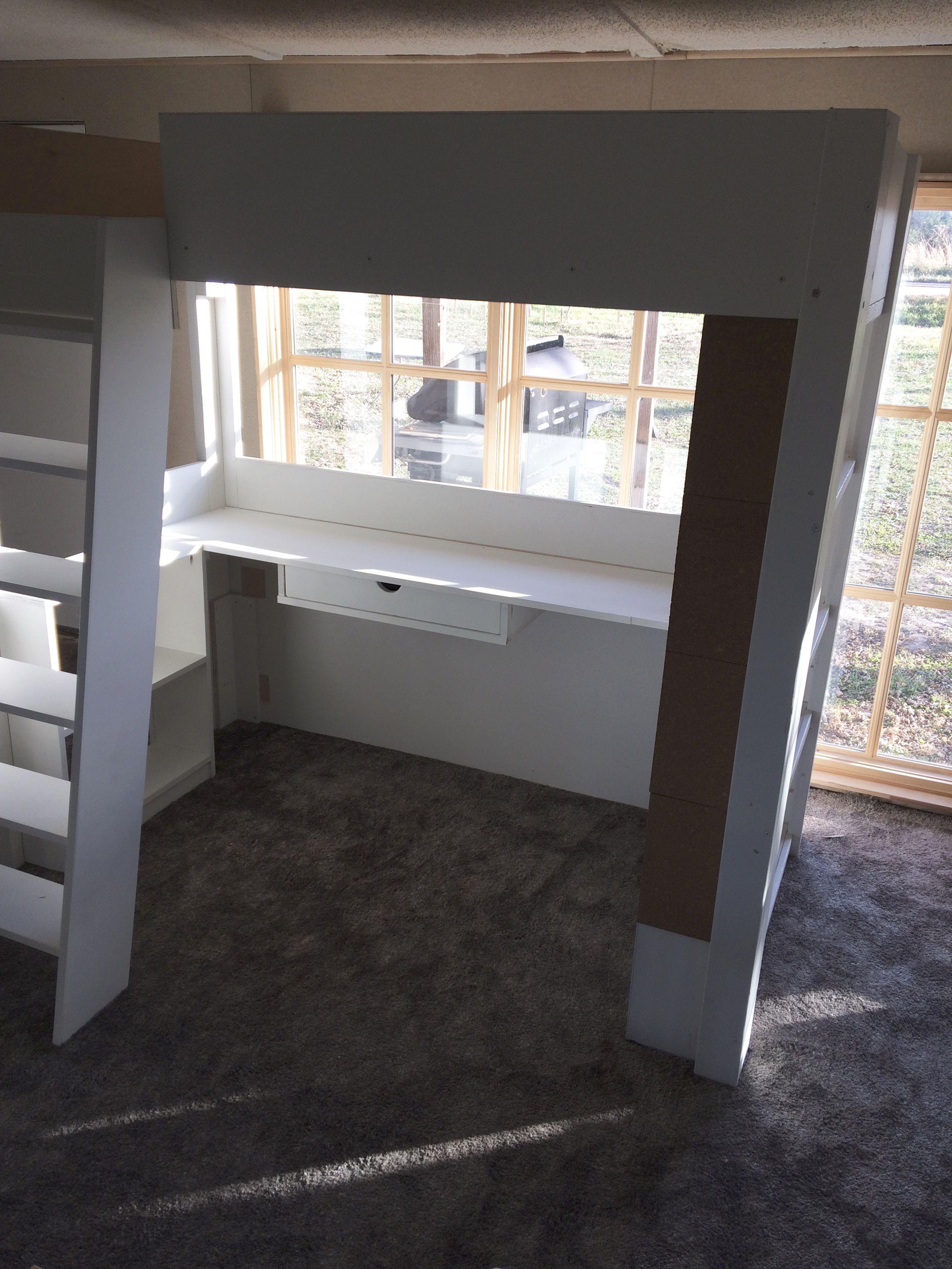 Custom loft bed ideas  Custom Made Kids Loaded Loft Bed With Desk Bookcases Drawer