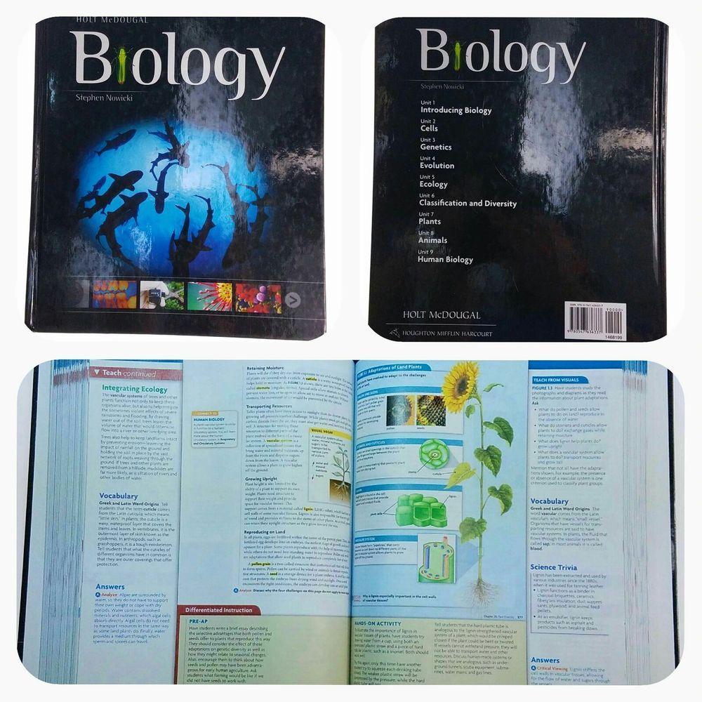 Holt McDougal Biology Book Teacher Edition Stephen Nowicki