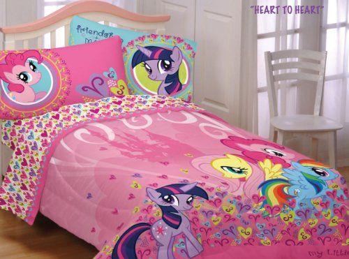 my little pony heart twin comforter sheets bedding set from hasbro rh pinterest com