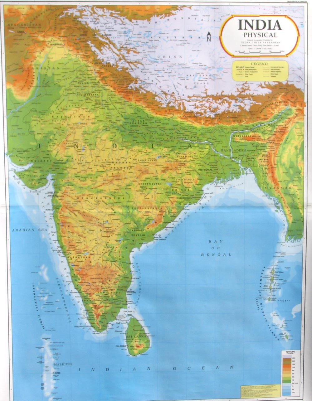 Physical Map Of India India Map Political Map Map