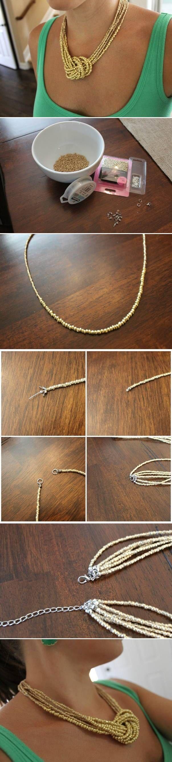 DIY collar sencillo                                                                                                                                                                                 Más