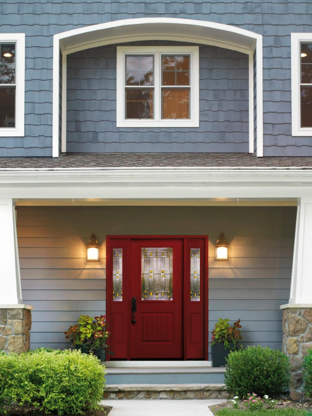 Front entry doors red - 20 Stunning Entryways And Front Door Designs