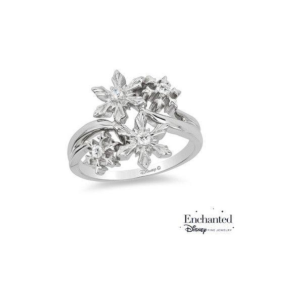 Enchanted Disney Elsa 0 085 Ct T W Diamond Snowflake