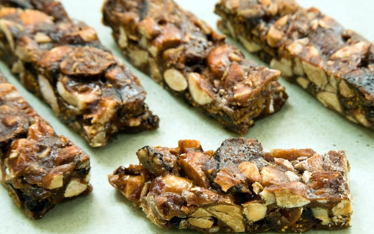 More panforte than Fig Newton, these chewy bars are a combination of dried figs, honey, spices, and toasted nuts. They're sturdy enough to slip into your pocket...
