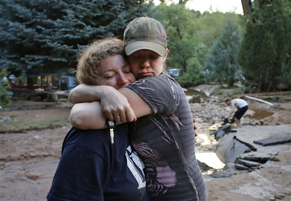 Helping sometimes starts with a hug...Our hearts go out to people in disaster areas everywhere:)
